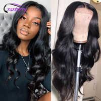 Pelucas de cabello humano brasileño Remy para mujer, postizo de encaje con ondas, línea de pelo Natural prearrancado, 4x4