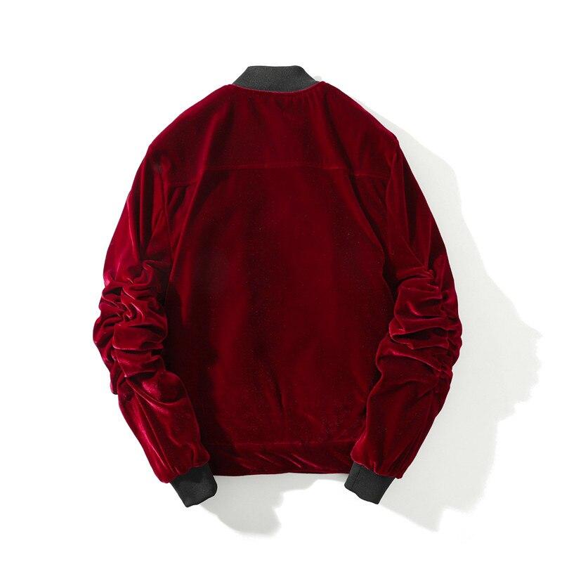 Automne hiver hommes épais chaud en vrac velours flanelle bomber veste Streetwear haute qualité homme surdimensionné décontracté manteaux pour vêtements de dessus - 2