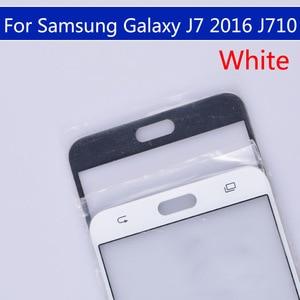 Image 4 - 10pcs のためにたくさんサムスンギャラクシー J7 2016 J710 J710F J710FN J710M J710MN J710H タッチスクリーン外側ガラス Lcd 前面タッチスクリーンレンズ