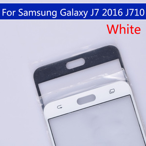 Image 4 - 10pcs\lot For Samsung Galaxy J7 2016 J710 J710F J710FN J710M J710MN J710H Touch Screen Outer Glass LCD Front TouchScreen Lens