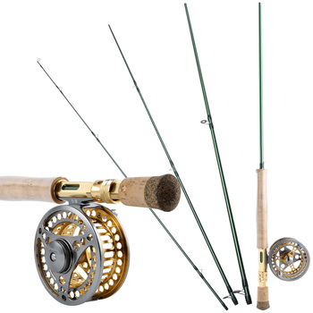 fly fishing rod 6 7 7 8 8 9 saltwater freshwater fly rod with a grade corkwood handle carp rod full aluminum reel seat Sougayilang 2.7M 9ft 7/8 Fly Fishing Rod Combos Portable Wooden Handle Carbon Fiber Fly Fishing Rods Top Quality Fly Reel Set