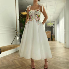 Prom-Dresses Flowers 1950's Party-Gown A-Line for Teens Christmas-Robes Tulle De Bohemian