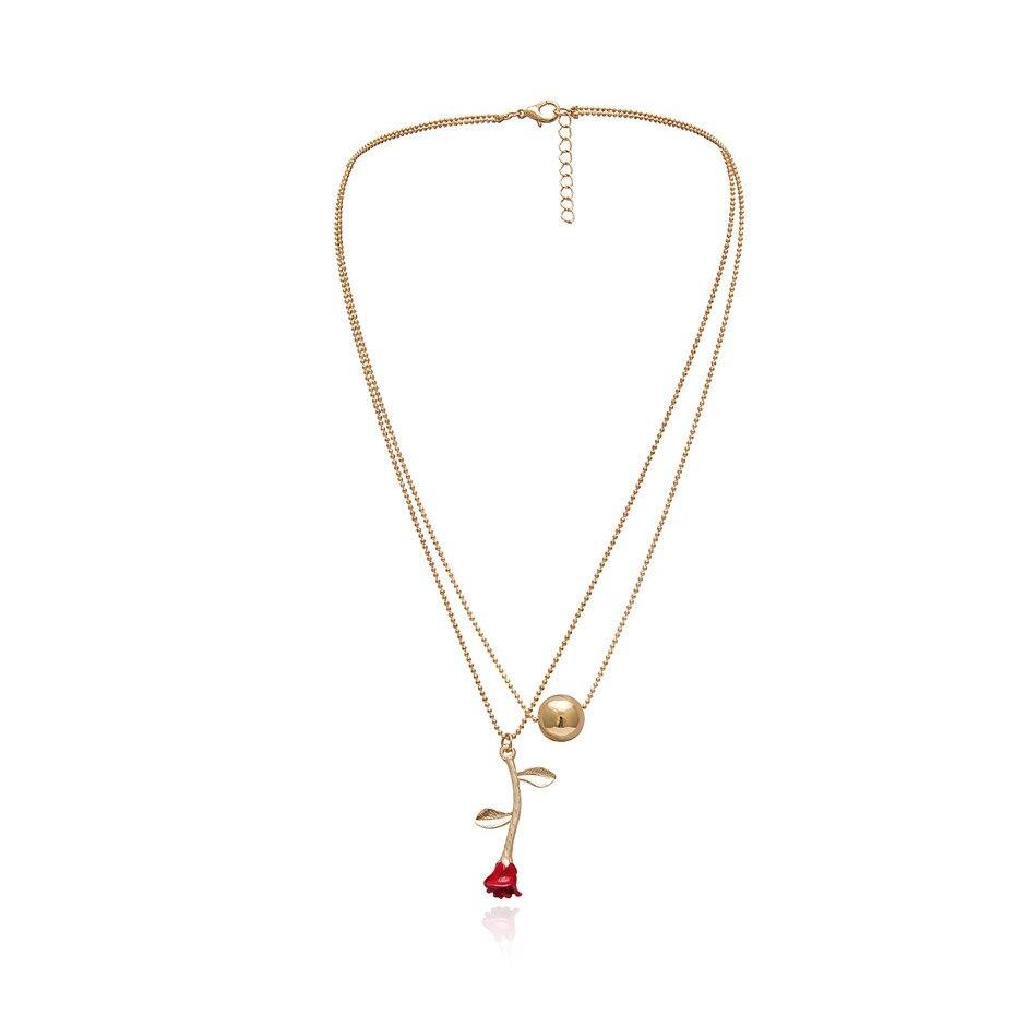 Ingemark, простое, винтажное, резное ожерелье с кулоном в виде монеты, крупное лицо, Богиня Девы Марии, розы, ангела, длинная цепочка, ожерелье для женщин - Окраска металла: Gold