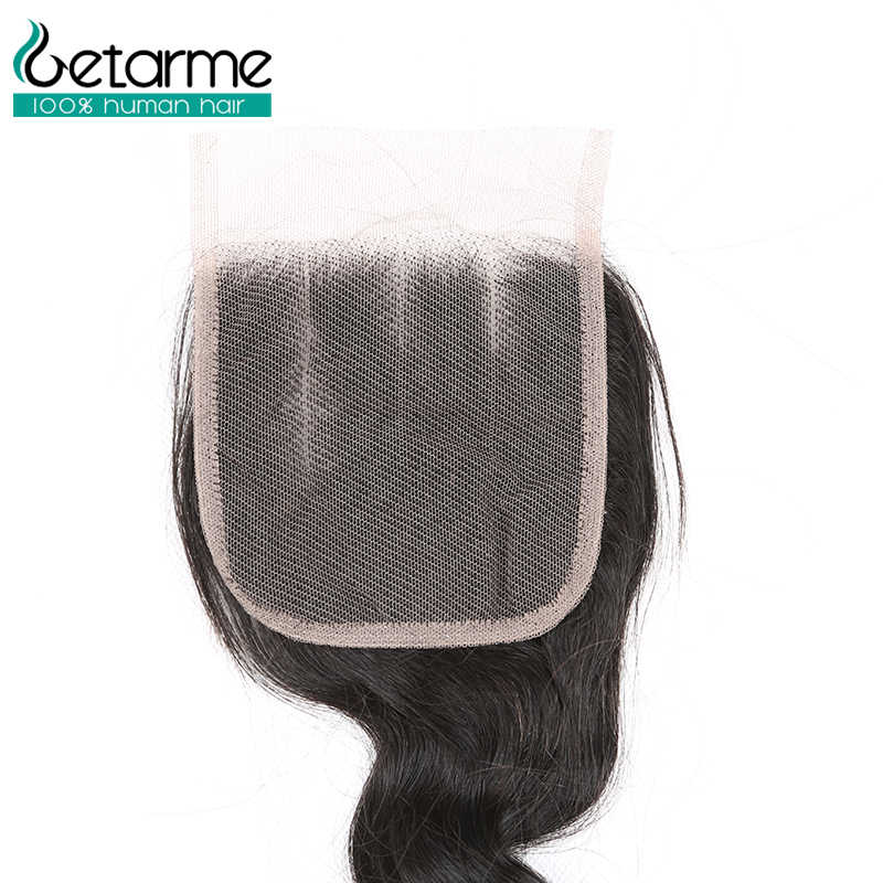 Getarme волосы 3 бразильские Свободные глубокие пряди с кружевной застежкой Remy человеческие волосы волнистые пряди с закрытием 10-26 дюймов пучок