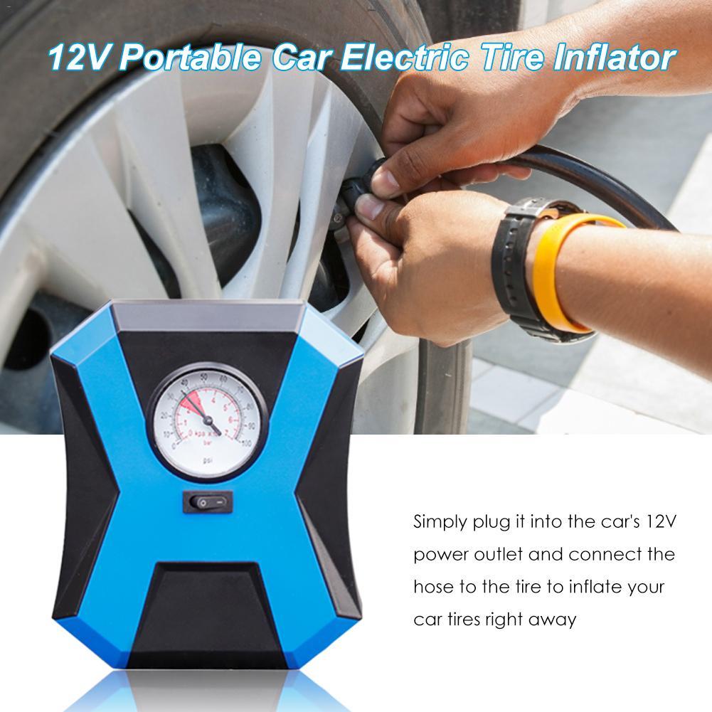 Portable Tire Air Pump Inflator Air Compressor Pump 12V Motorcycle Car Electric Tire Inflator Pump Car Accessories
