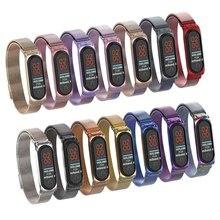 Stainless Steel Wrist Strap for Xiaomi Mi Band 4 3 Metal Straps Fitness Bracelet Smart Watch Pulseira Correa Belt for Miband 4 3 цена в Москве и Питере