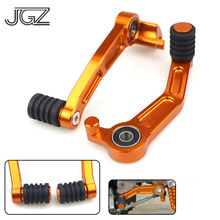 цена на Pair for KTM Duke 390 2013 2014 2015 2016 125 200 Motorcycle CNC Aluminum Foot Brake Lever Gear Shifting Lever Pedal Accessories