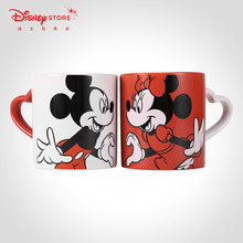 2 pieces Disney Fashion Mickey Minnie Ceramic Mug Couple Cup Mug Gift Box Valentine's Day Gift Milk Coffee Cup