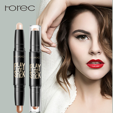 ROREC Bronzers&Highlighters Stick Highlighting Powder Creamy Texture Waterproof Ivory Shimmer Light Makeup Illuminator Concealer rorec bronzers