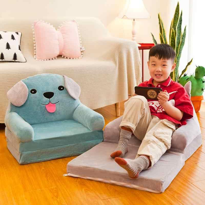かわいい椅子ファッション子供の子供のための折りたたみ漫画スツールソファベビースツール洗浄することができ洗えるため子供