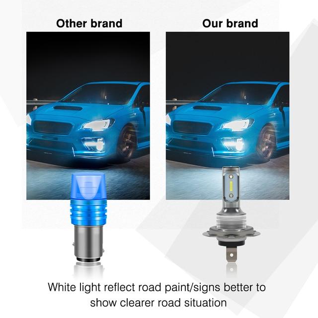 SUHU 2Pcs H7 LED Car Headlights High Low Beam Conversion Kit Hi/Lo Beam 55W 8000LM 6000K Super Bright Auto Fog Lights Bulbs CSV Car Headlight Bulbs(LED)    -