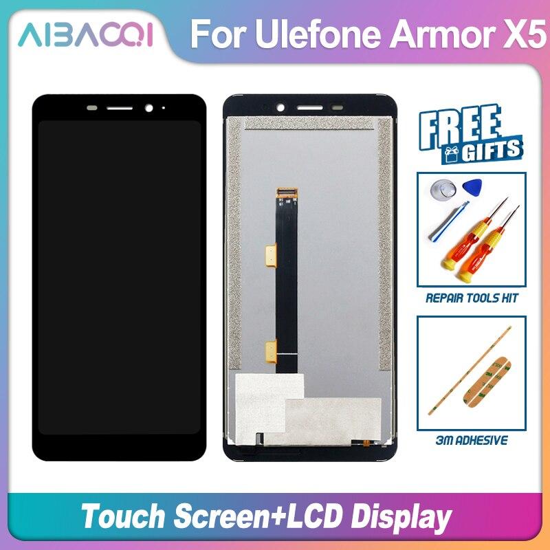AiBaoQi Новый Оригинальный сенсорный экран и ЖК-дисплей Дисплей, для сборки, запасные части для Ulefone power 2/3/3T/5/X5/7/7E/8/9/9E чехол для телефона