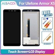Aibaoqi nova tela de toque original + display lcd assembléia substituição para ulefone armadura 2/3/3t/5/x5/7/7e/8/9/9e telefone