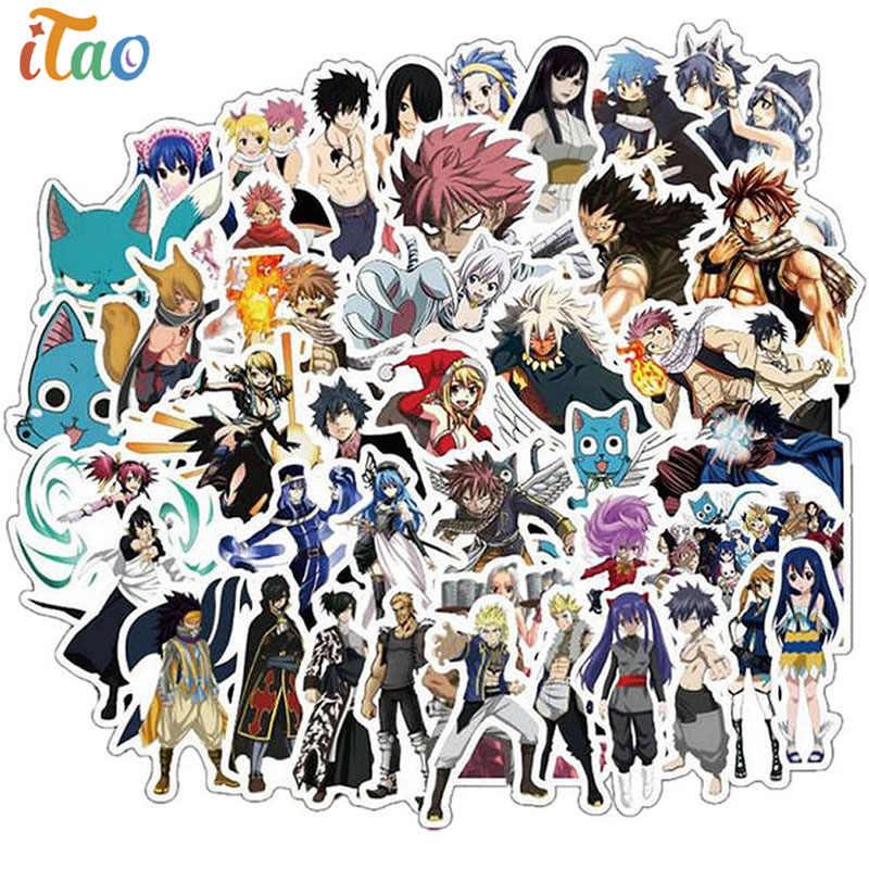 Casuale/Pacchetto Del Fumetto Giapponese Anime Fairy Tail Autoadesivo IN PVC Impermeabile Computer Portatile di Skateboard Moto Deposito Giocattolo Per Bambini VSCO Adesivi