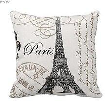 YYDD Париж Эйфелева башня печать квадратный заказной Рождественский чехол для подушки персонализированный Чехол для подушки наволочка