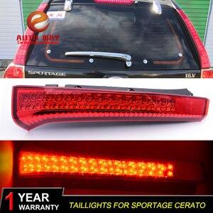 Image 2 - רכב סטיילינג זנב אורות LED בלם אורות אזהרת אורות מקרה עבור KIA Sportage cerato sportageR Ceed 2007 2014 פנסים אחוריים