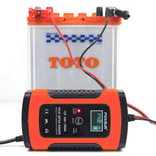 New 12V 20Ah 60Ah 100Ah Pulse Repair Charger with LCD Display Lead Acid Battery Charger UPS Motorcycle & Car Battery Charger(China)
