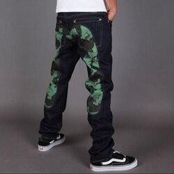 2020 Аутентичные Evisu новые дышащие высококачественные модные мужские брюки теплые джинсы Прямые мужские хлопковые брюки с принтом для отдыха