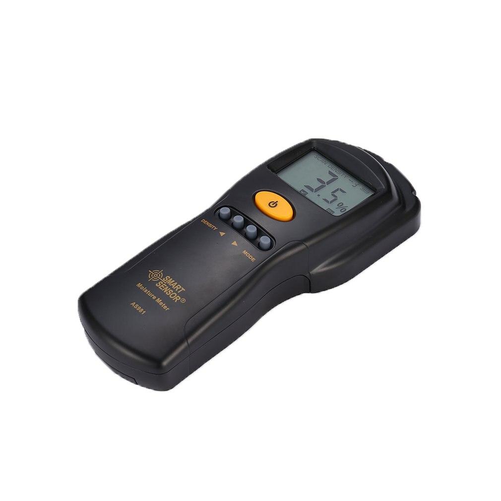 Sensor inteligente AS981 Digital madera higrómetro medidor de humedad probador de madera contrachapada materiales de madera LCD retroiluminación humedad DetectorSm