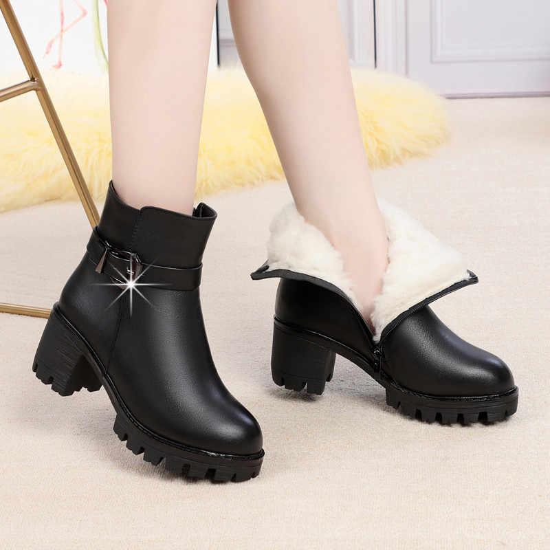 MORAZORA; Новинка 2020 года; обувь на платформе и высоком каблуке; женские ботильоны; ботинки из натуральной кожи и шерсти; теплые зимние ботинки для женщин