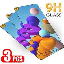 3 pçs vidro protetor para samsung galaxy a21s 21 s M-A217F película de proteção de luz para samsung a72 a52 a42 a32 a21 a12 sklo capa