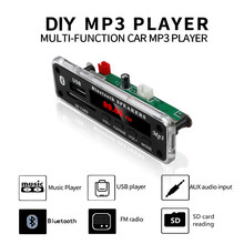 DC 12V Auto Auto Bluetooth MP3 WMA FM AUX Decoder Board Plaat Audio Module TF SD Card USB Radio auto MP3 Luidspreker Accessoires(China)