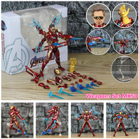 Iron Man Action Figure Mark 85 and Mark 50 Armors with LED Weapons 6inch 5