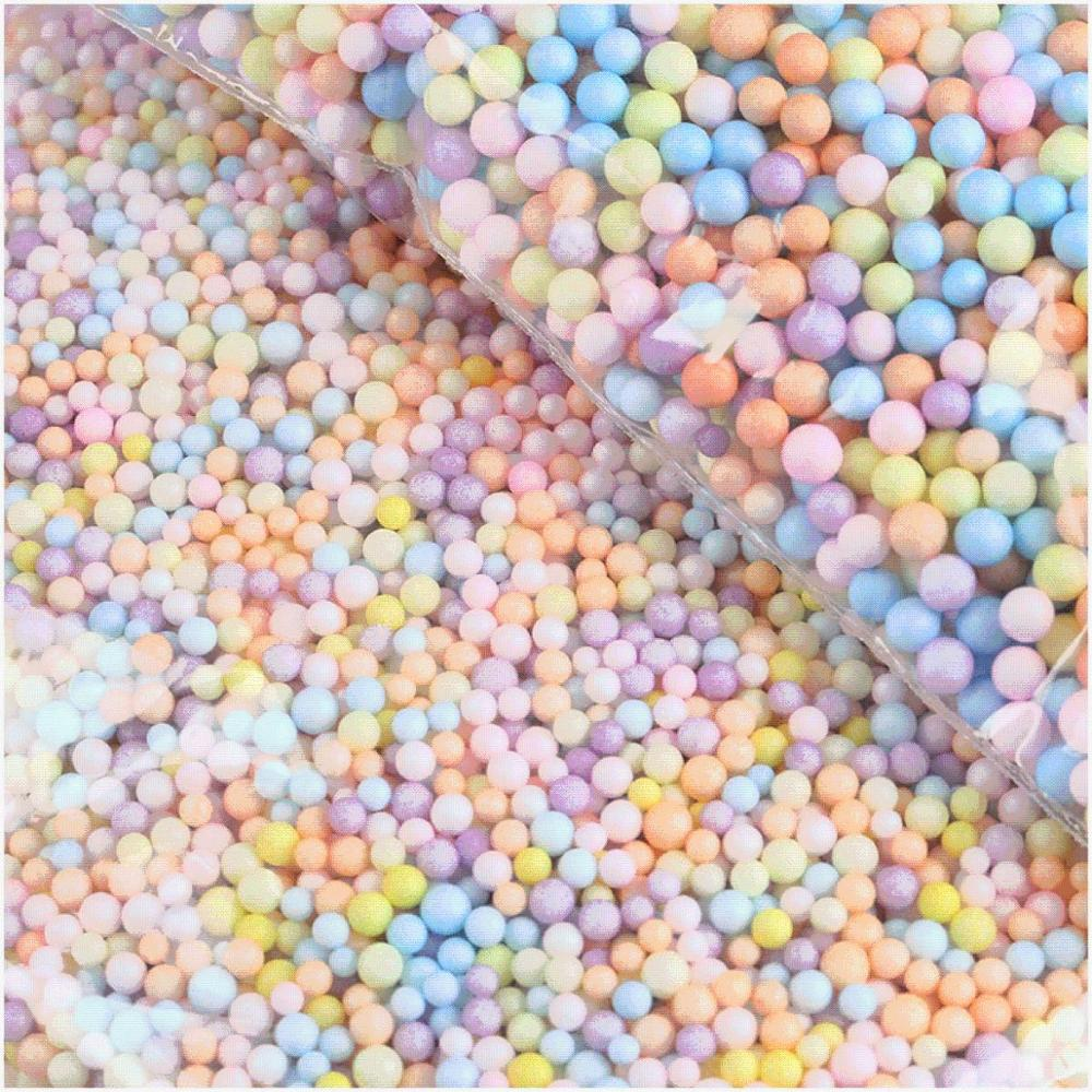 1pack Polystyrene Styrofoam Balls DIY Snow Mud Particles Accessories Slime Balls Small Tiny Foam Beads For Foam Filler 7-9mm