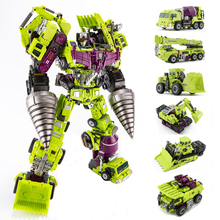 Jinbao GT Devastator Transformation G1 Oversize 6 IN1 Bonecrusher Scrapper Haul Mixmaster Hook KO Action Figure Robot Toys Gifts