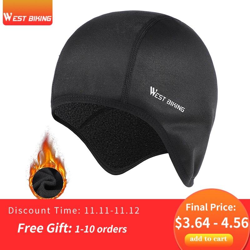 西バイク冬サイクリング防風暖かいフリースバイク帽子屋外スポーツバラクラバスキースノーボードランニングヘルメットライナーキャップ
