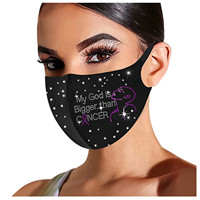 Headband 1PC masque scarf Adult Bright Diamond Washable Ice Silk Cotton Mask masque de protection Маска mascherine maske бандана