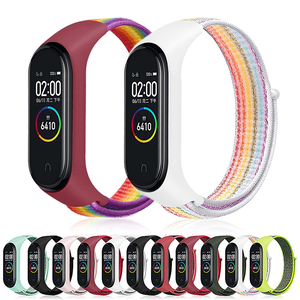 Watch-band for Xiaomi MI Band 4/3 Official breathable sport nylon strap for MI band4 3 smart watch replace Wristband accessories