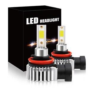 2шт 60 Вт 12000лм светодиодный автомобильный головной светильник, лампы H11 9006 HB4 9005 HB3 H4 H7 H8 H9 H1, мини головной светильник, комплект для дальнего/дальнего света, противотуманный светильник
