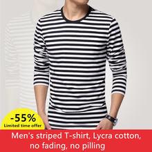 Мужская футболка с длинным рукавом и круглым вырезом винтажная