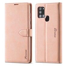 De Lujo caja de teléfono de cuero para Samsung Galaxy A01 A11 M11 A21 A31 A41 A51 A71 A81 A91 A21S M60S M80S cartera Flip caso de la cubierta