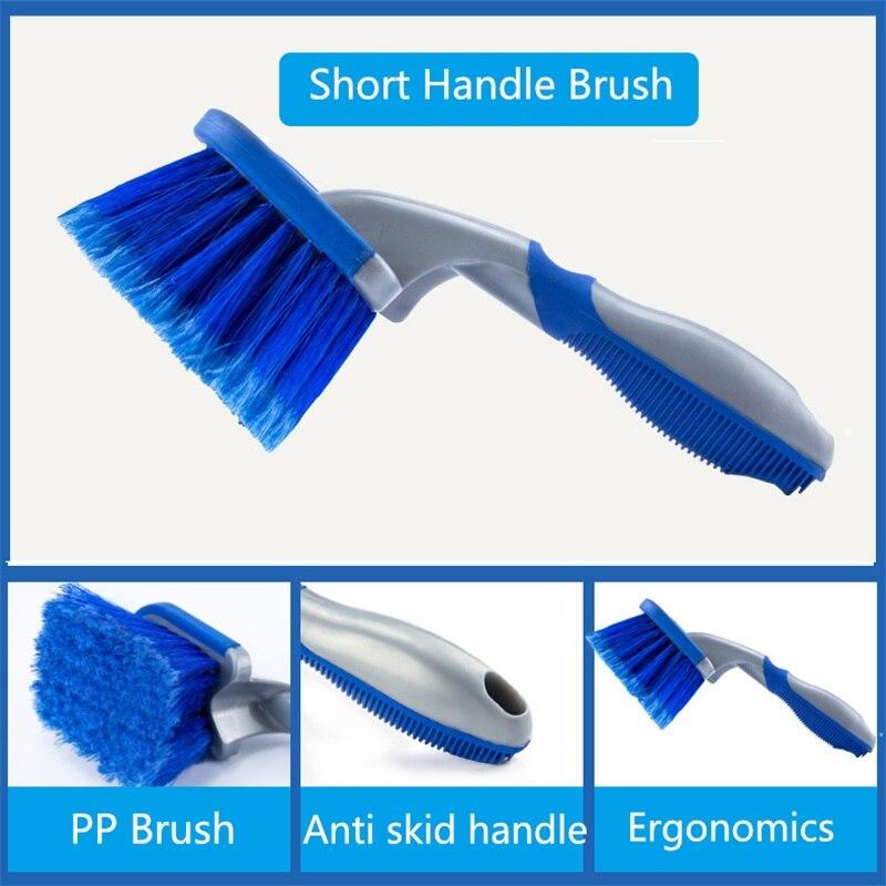 3Pcs/set Car Wash wheel Hub Brush Long Handle Car Tire Cleaning Brush 5