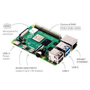 Image 2 - Original Neueste Raspberry Pi 4 Modell B Pi 4 Entwicklung Bord 2G 4G 8G RAM 2,4G & 5G WiFi Bluetooth 5,0 RPi 4
