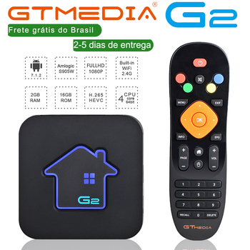 Brazilian IPTV GTMEDIA G2 TV Box+IPTV server 4K HDR Android 7.1 Ultra HD 2G 16G WIFI Google Cast Netflix IPTV TV BOX PK HTV 5 150m usb wireless wifi adapter 5370 chip for mag254 mag 254 250 256 linux tv box ott iptv set top box iptv mag250 htv 5 openbox
