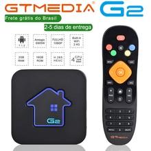 مستودع برازيلي GTMEDIA G2 صندوق التلفزيون خادم 4K HDR أندرويد 7.1 الترا HD 2G 16G واي فاي جوجل يلقي Netflix صندوق التلفزيون PK HTV 5
