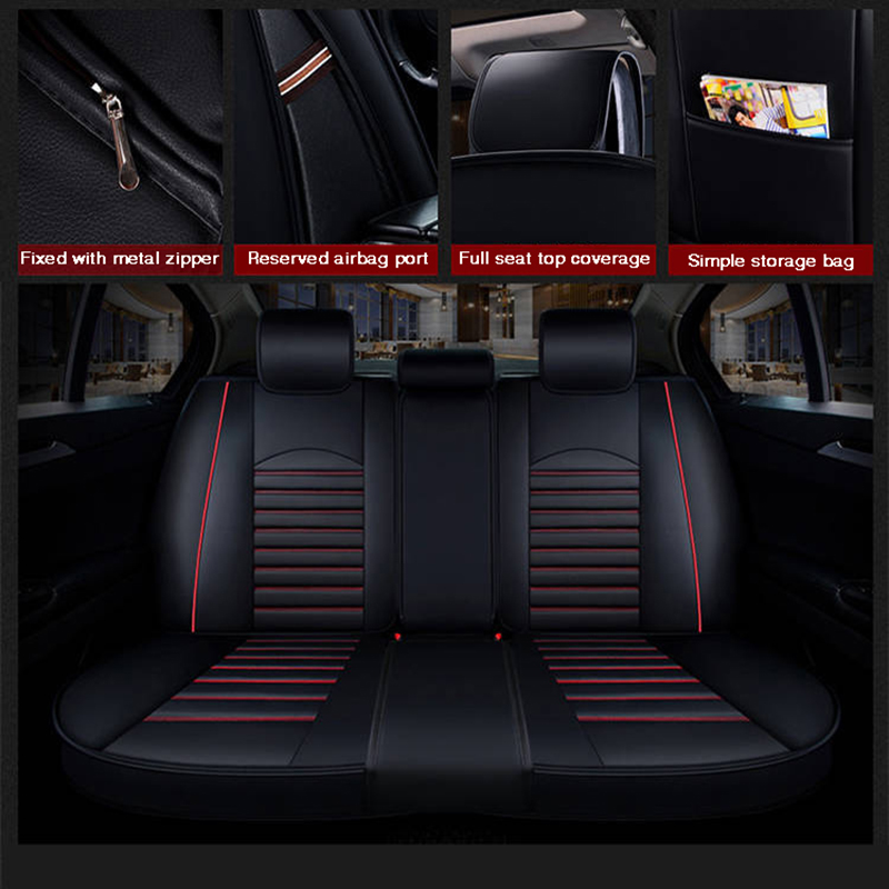 2020 New Custom Leather Four Seasons For Honda Civic Accord Fit Element Freed Life Zest Car Seat Cover Cushion