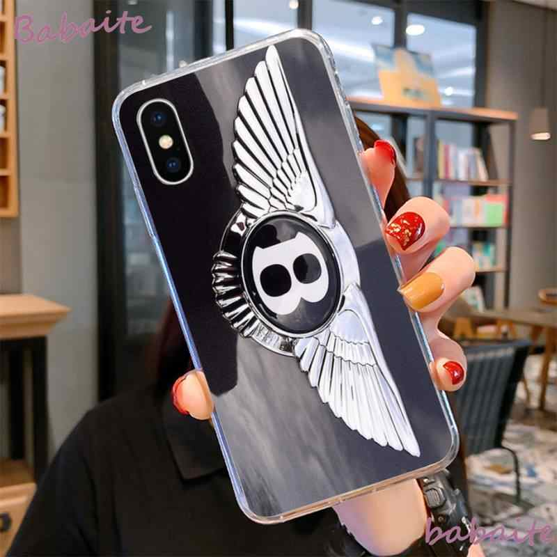 Babaite BENTLEY Đen Mềm Vỏ Ốp Lưng Điện Thoại Capa Cho iPhone 8 7 6 6S 6S Plus X XS MAX 5 5 5S SE XR 11 11pro Promax