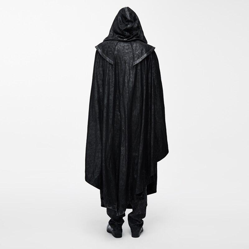 Duivel Mode Vrouwen Gothic StyleMysterious Losse Lange Mantel Jassen Halloween Vleermuis Trenchcoats Cape - 3