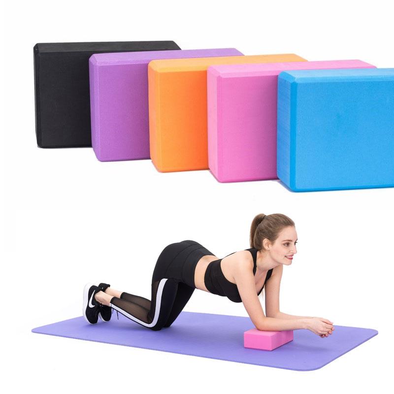 EVA Yoga Block Set Pilates Brick Fitness Belt Set For Exercise Workout Fitness Training Block Brick Stretching Belt Yoga Bolster