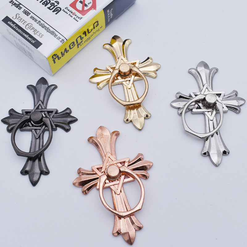 Mobile Phone Ring Bracket Full Metal Ring Buckle Cross Lazy Anti-drop Mobile Phone Holders & Stands Finger Holder