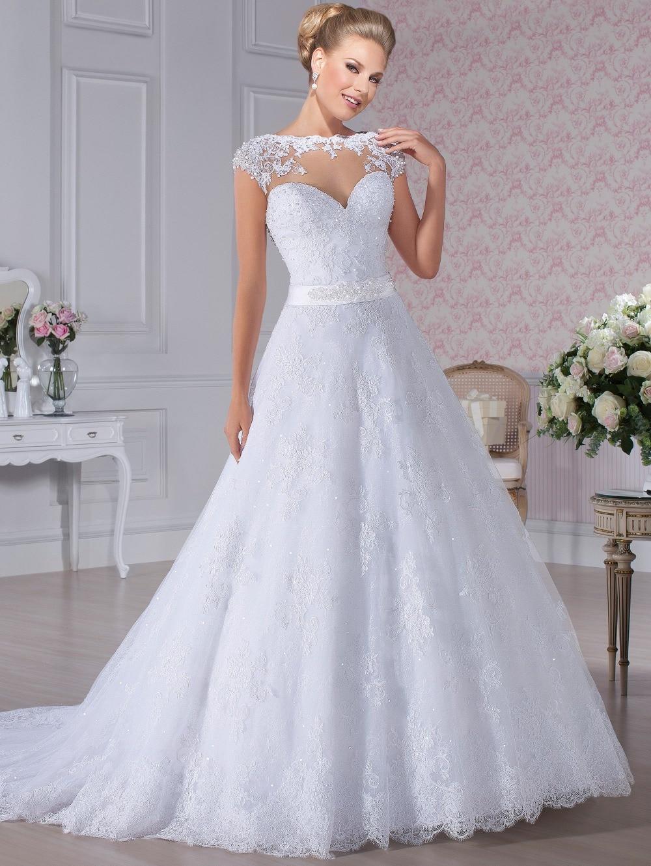 Custom Made Princess Lace Beading Romantic Wedding Dress 2015 New Fashion Vestido De Noiva Renda Dress Bride Free Shipping H32