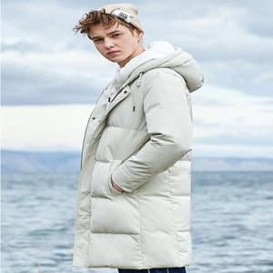 Image 4 - SEMIR 2020 Neue Winter Männer Unten Jacke 2XL Extra Lange Ente Unten Mantel Verdicken Warme Winddicht Männlichen Outwear