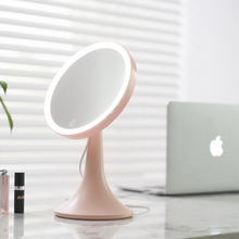 AOJIAO Makeup mirror LED soft light HD mirror USB charging storage plastic environmental protection material fill light mirror