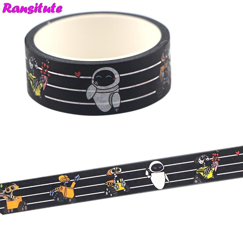 Ransitute Cartoon Cute Washi Paper Tape Handmade DIY Decorative Paper Tape Color Tape Album Decoration Tape R731