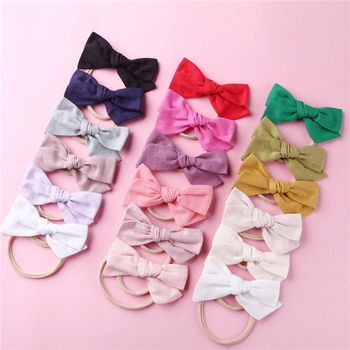 2020 Brand New Bow Handmade Baby Girls Bow Headband Infant Toddler Solid Knot Hair Band Head Wrap Hair Accessories 5pcs head wrap baby headbands headwear girls bow knot hairband head band infant newborn toddlers gift tiara hair accessories