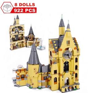 Image 3 - Movie Harri Pottered Hogwarte Castle Express Train Magic House Building Block  Bricks Toy for Children